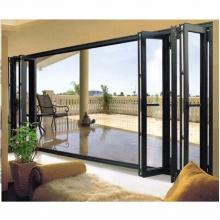 Casa de lujo de diseño acordeón de aluminio con puerta corredera plegable.