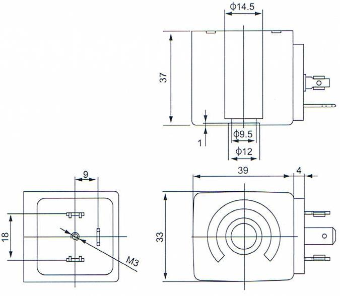 Dimension of BB14637535 Solenoid Coil: