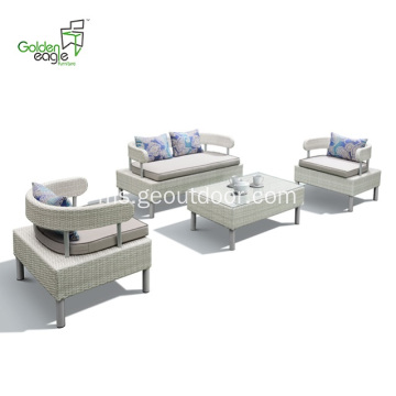Sofa 4pcs rotan UV dan kalis air
