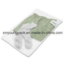 Personalisierte weiße Mesh Reise Wäscherei Waschbeutel