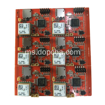 Red Solder Mask Multilayer PCBA Board for Tracker