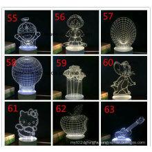 Acrylic LED 3D Light, Fixtures Illumination Touch Control 3D Light