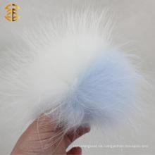 Top-Qualität Waschbär Pelz Pom Pom Ball gefärbt Waschbär Pelz Pompons
