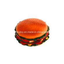 Enorme brinquedo de vinil com hambúrguer para animais de estimação