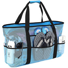 Wholesale 2021 New Fashion Grocery Shopping Bag Mesh Beach Bag Outdoor Picnic Tote with Oversized Pockets