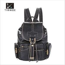 Изготовленный на заказ высокий класс натуральная кожа ноутбук рюкзак