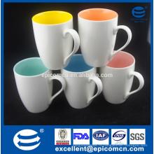 Красочные качества Hight Горячие продажи Белый пустым керамическим Новая кость Китай Сублимация кофе кружка и Кубок