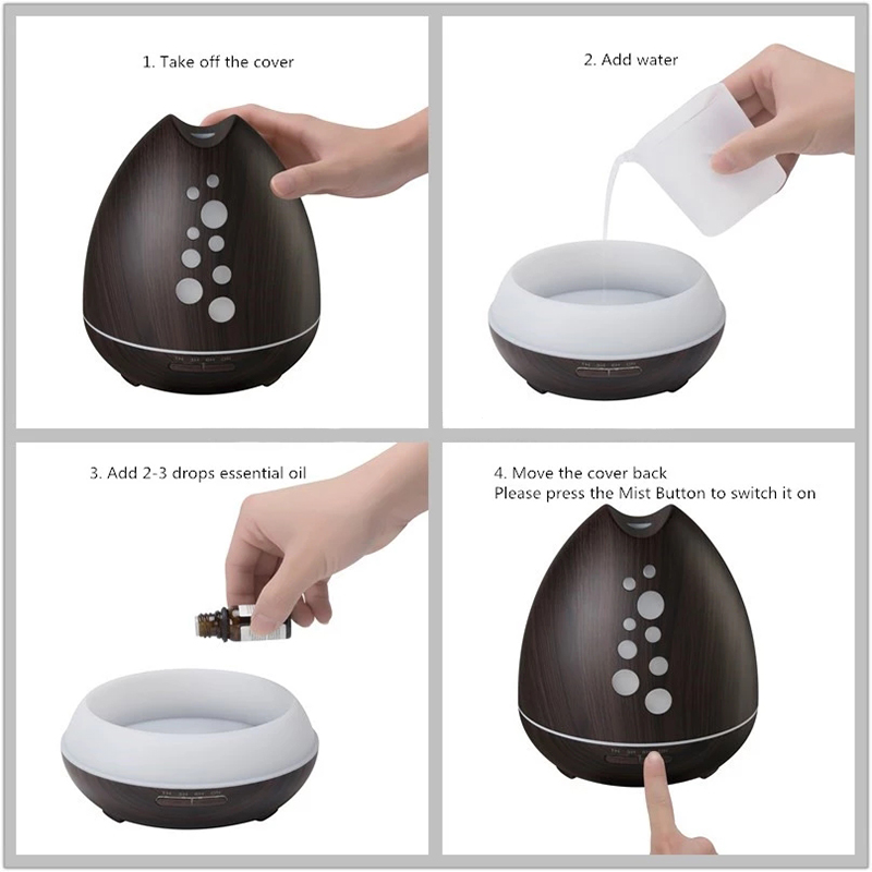 Smart Bluetooth Air Humidifier Aroma Diffuser
