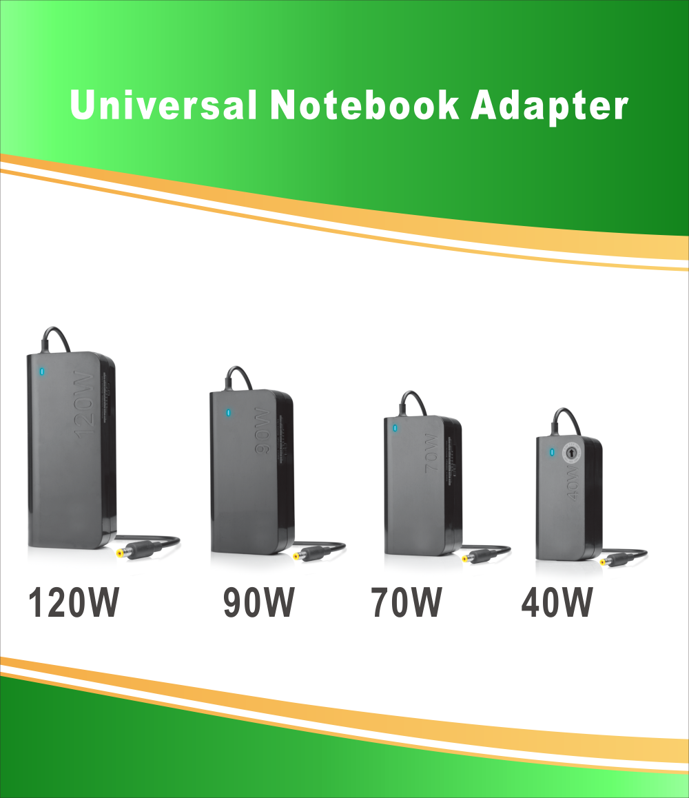 90W 12-24V Universal Notebook Power Adapter