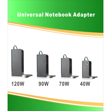 90W Universal Laptop Adapter med 8 kontakter