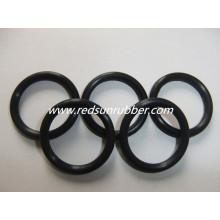 Schwarzer Gummi O-Ring