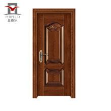 La puerta del precio bajo aceptó diseños de la puerta principal de madera del acero del OEM