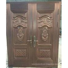 2 piezas puerta de acero de seguridad de entrada elegante