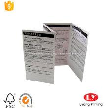 Сложенный Рекламный Буклет Листовка Листовка Печать