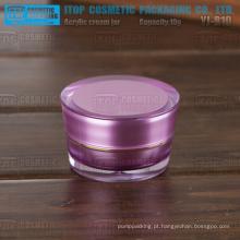 YJ-R10 10g o menor preço para atacado conicidade rodada Acrilicos roxo 10ml para cosméticos