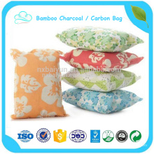 Deodorant carbon bag for eliminating leather smell bamboo chacoal bag