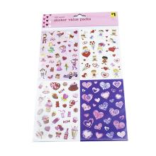Various Heart Shape Die Out Vinyl Stickers Decorative