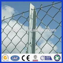 Hot Dipped galvanizado 11 gauge fio Fence Link Cadeia