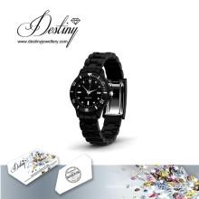 Destiny Jewellery Crystal From Swarovski Joy Leather Watch