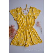 Gelbe Tupfen-Overalls