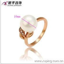 Popular Xuping Jóias Rose Gold Color Pêra Anel com CZ sintética