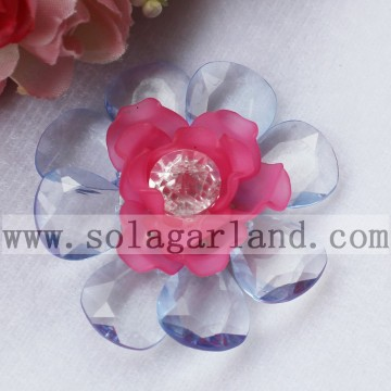53MM Acryl Perle Kunstblumen mit Diamond Center