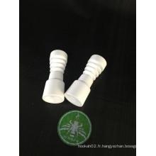 Enjoylife Female 14mm Domeless Ceramic Nail for Glass Water Pipe