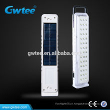Luz de emergência solar recarregável led casa