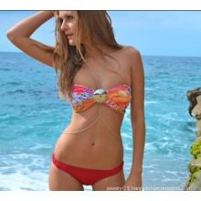 2015 wholesale fashion Bikini body chain necklace body jewelry