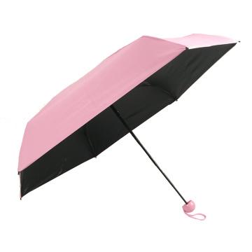 Mini guarda chuva cápsula de bolso 5 vezes revestido com gel