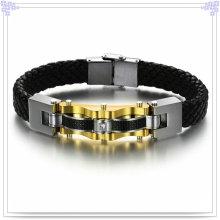 Joyería de moda cuero joyas pulsera de cuero (lb110)
