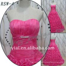 2016 Customed Bridal Dress Pink Flower Skirt Ball Gown Grace Evening Dress