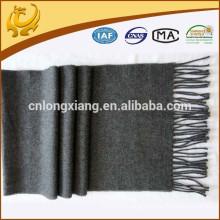 OEM custom SGS certificate fashion accessories plain wool shawls grey