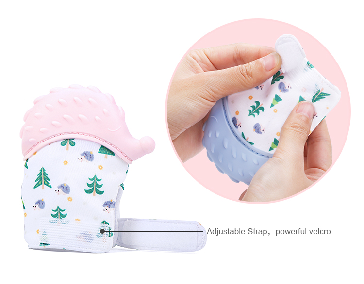silicone baby teething glove