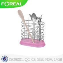 Круглая форма металлическая посуда держатель с пластиковой основе