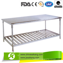 Double Stainless Steel Work Table with Competitive Price