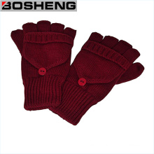 Fingerless Knitted Gloves with Mitten Cover