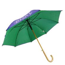 Zweischichtige Baldachin Logo Brolly maßgeschneiderte Werbegolf Regenschirme, Doppelschicht Logo Druck Auto Regenschirm