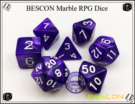 BESCON Marble RPG Dice Set-4