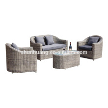 Garden PE round rattan sofa sets