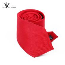 Raya roja brillante corbata excelente calidad hombres corbata