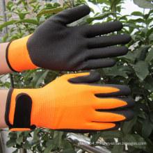 Gants en nitrure de Sandy Gants en nylon Hi-Viz Gant de travail de sécurité