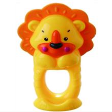 Anel de banho infantil brinquedo leão mordedor brinquedo sino