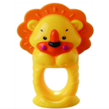Anello da bagno infantile Toy Lion Teether Bell Toy