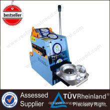 Restaurant Equipment Bubble Tea Plastic Lid Sealing machine