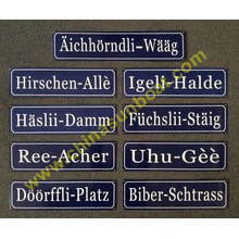 Gusseisen Emaille Street Sign Board