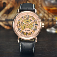 custom professional company leather mens watch