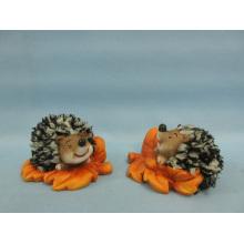Hedgehog forma cerâmica artesanato (loe2539-c10)