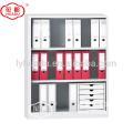 Half height open door two shelves steel book rack storage cabinet