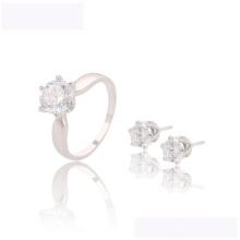 63620 xuping elegante conjunto mais recente projeto Rhodium cor Sintética CZ conjunto de jóias
